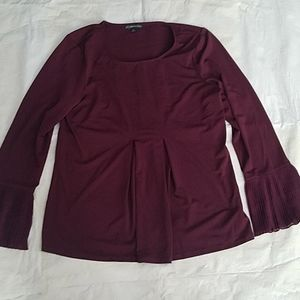 Adrianna Papell Purple Eggplant Color Blouse MD